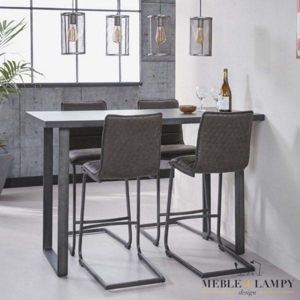 Stół barowy 140x70cm U rama czarno-brązowy 3D
