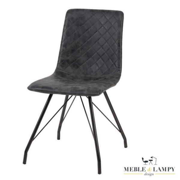Krzesło CURVE BLACK woskowane