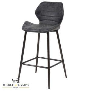 Krzesło barowe/Hoker wyprofilowane siedzisko - czarny