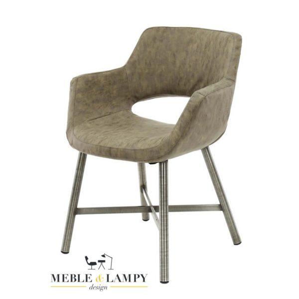 Krzesło/Fotel OPEN RVS taupe nowoczesny
