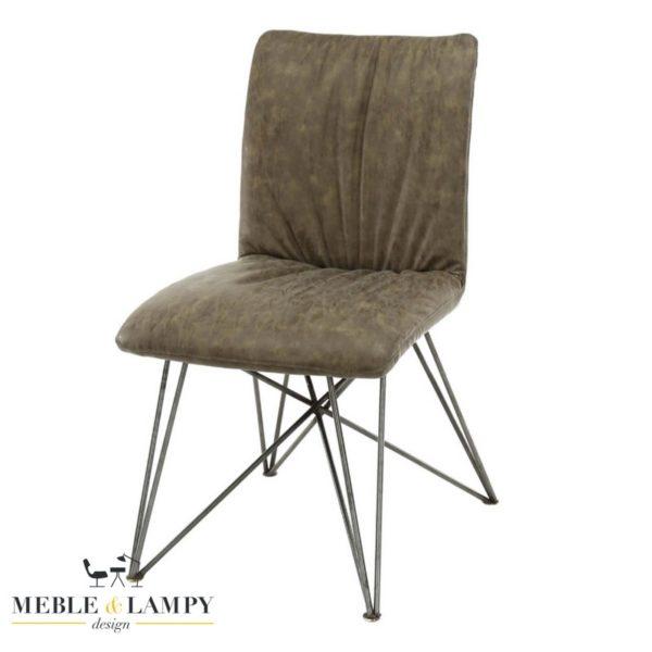Krzesło SHAR PEI lux eko skóra-taupe