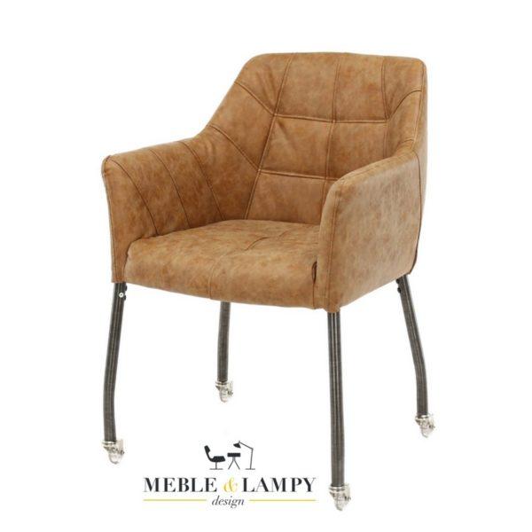 Krzesło/Fotel CHILLOUT na kółkach cow texas brąz