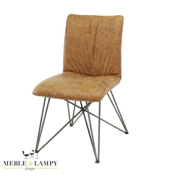 Krzesło SHAR PEI lux eko skóra-cow brąz