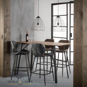 Krzesło barowe/Hoker wyprofilowane siedzisko