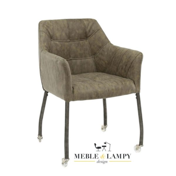Krzesło/Fotel CHILLOUT na kółkach taupe