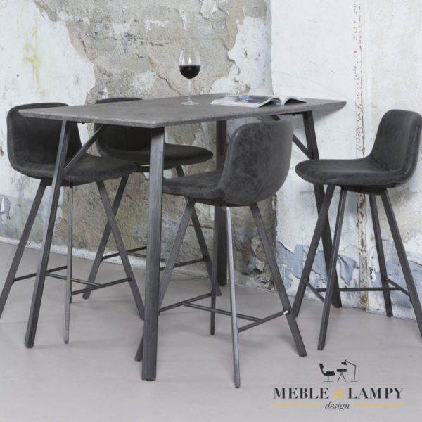 Stół barowy 140x70cm z płyty MDF beton szary
