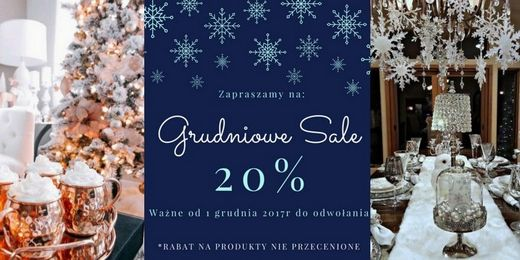 Grudniowe Sale meble lampy design