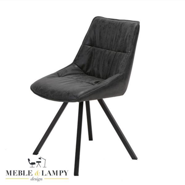 Krzesło PLOOI eko skóra-czarne