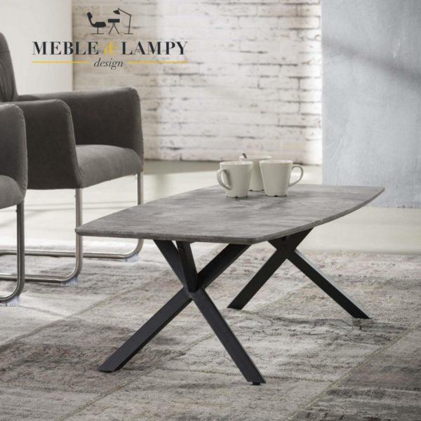 Ława/stolik mdf okleina 3D beton look szary