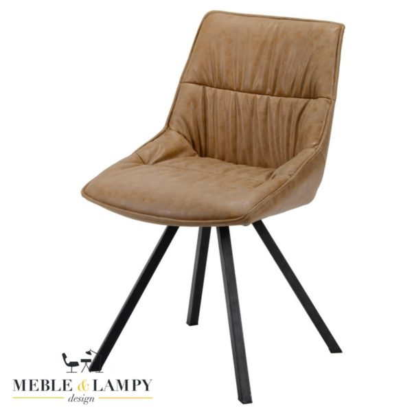 Krzesło PLOOI eko skóra-cow brąz