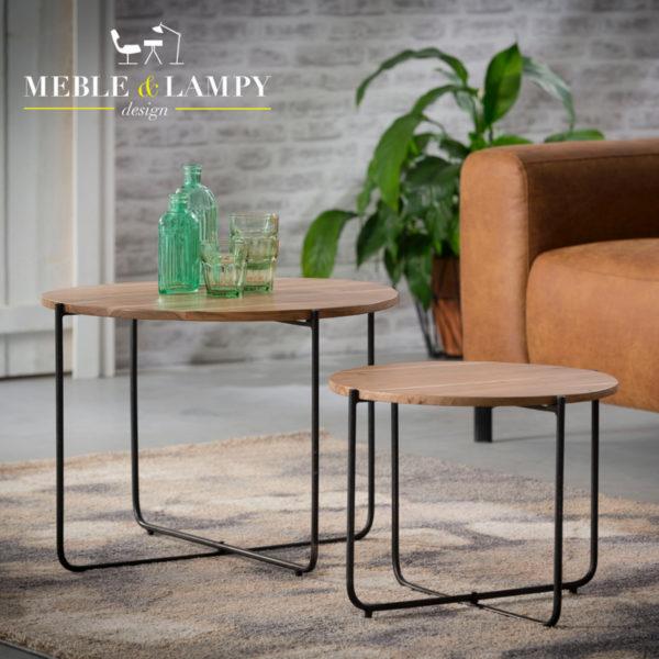 Komplet stolików set/2 Ø60 Nordic