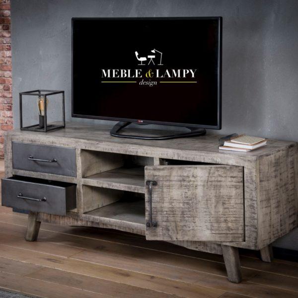 TV mebel RIFT - 1 drzwi, 2 szuflady, 2 półki