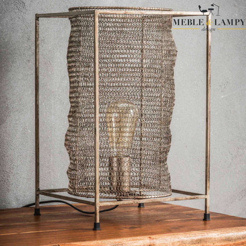 Lampa stołowa The Mesh Square Tangle