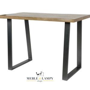 Stół barowy 135x70 cm Masywny Trapez Jasny