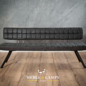 Krzesło/Ławka KRUIS BLACK 180 cm – duża ławka do stołu