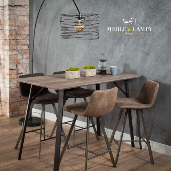 Stół barowy 140x70cm z płyty MDF dąb szary wash
