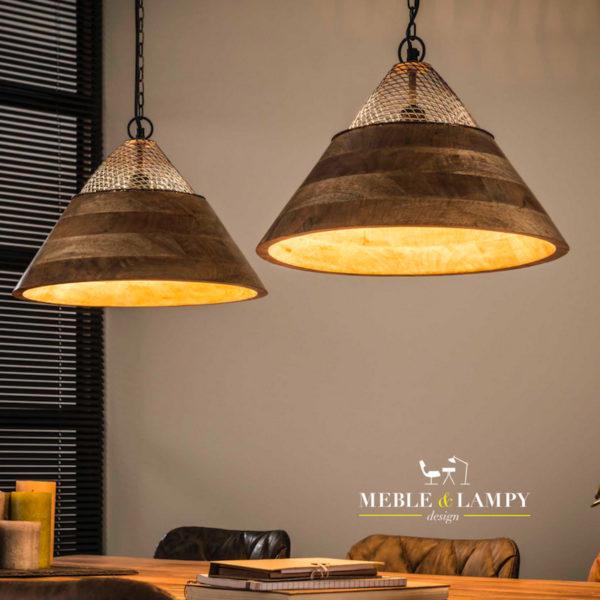 Lampa wisząca 2xØ40 Mango wood