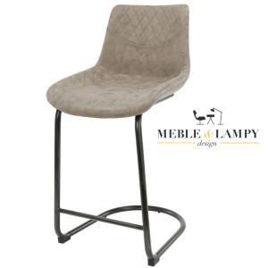 Krzesło Barowe/Hoker CUP na płozie z podnóżkiem – Brązowe