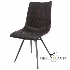 Krzesło Vintage super imitacja prawdziwej skóry – brązowe