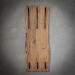 Wieszak z drewna akacjowego 2 x 3 haki pionowy