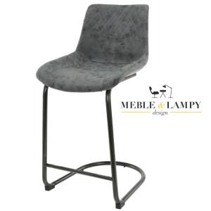 Krzesło Barowe/Hoker CUP na płozie z podnóżkiem - Czarne