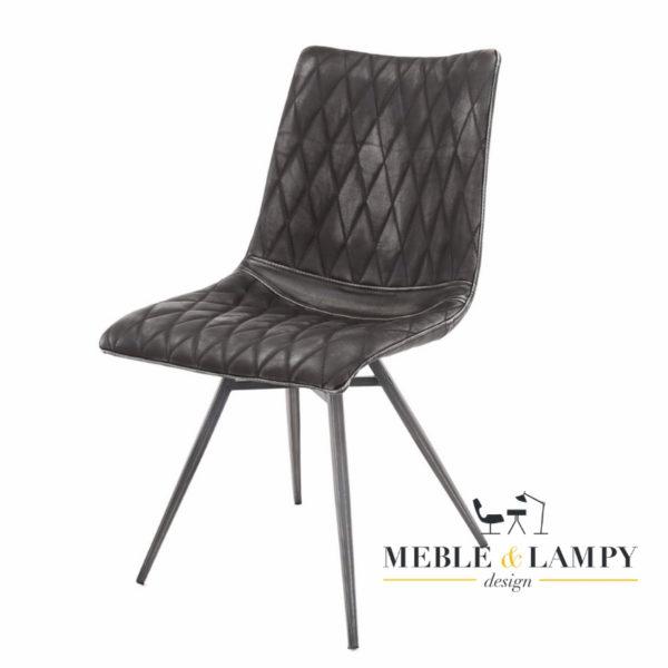 Krzesło Vintage super imitacja prawdziwej skóry - Czarne