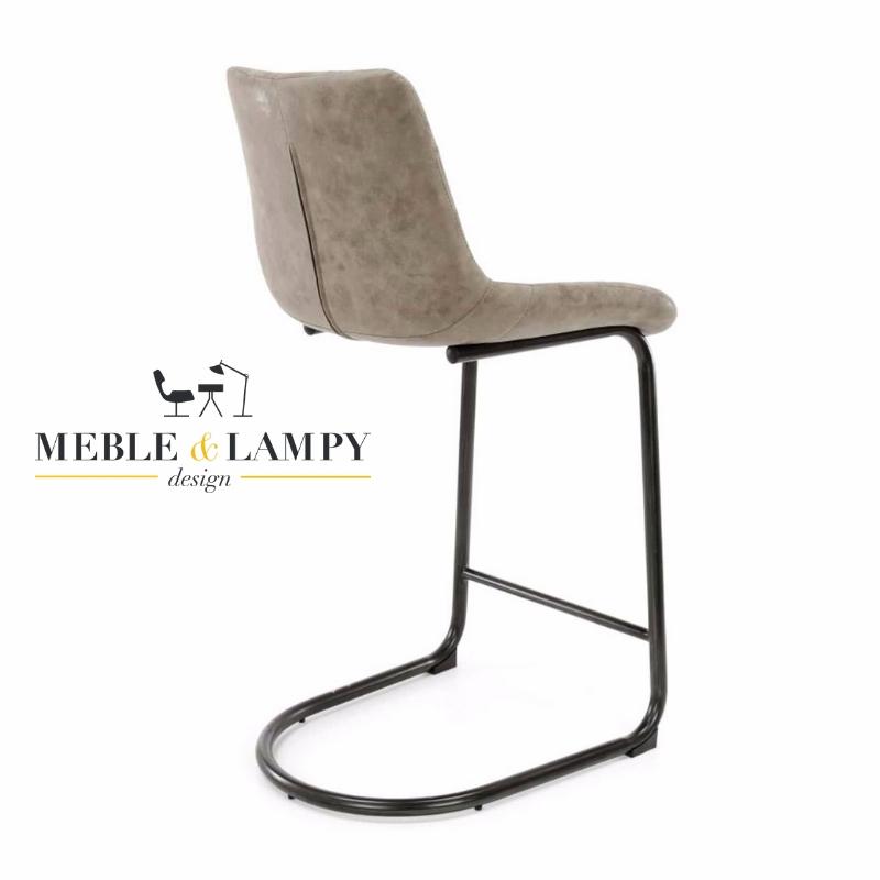 Krzesło Barowe/Hoker CUP na płozie z podnóżkiem - Brązowe