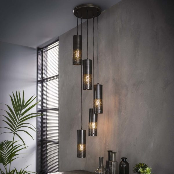Lampa wisząca Cylindry Stopniowane 5L – średnica 10 cm