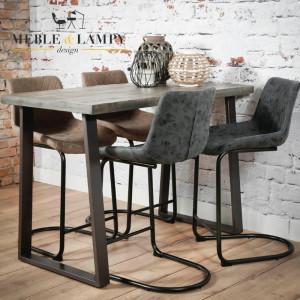 Krzesło Barowe/Hoker CUP na płozie z podnóżkiem – Czarne