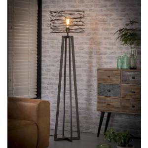 Lampa podłogowa Spirala – Prosta o średnicy 45 cm