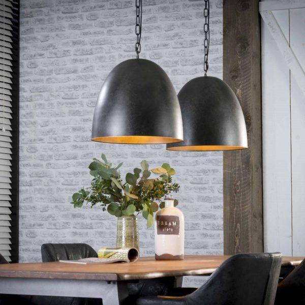 Lampa wisząca srebrne dzwony 2 x 40 cm