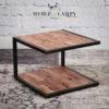 Stolik Mill 50x50 cm piaskowane drewno akacji