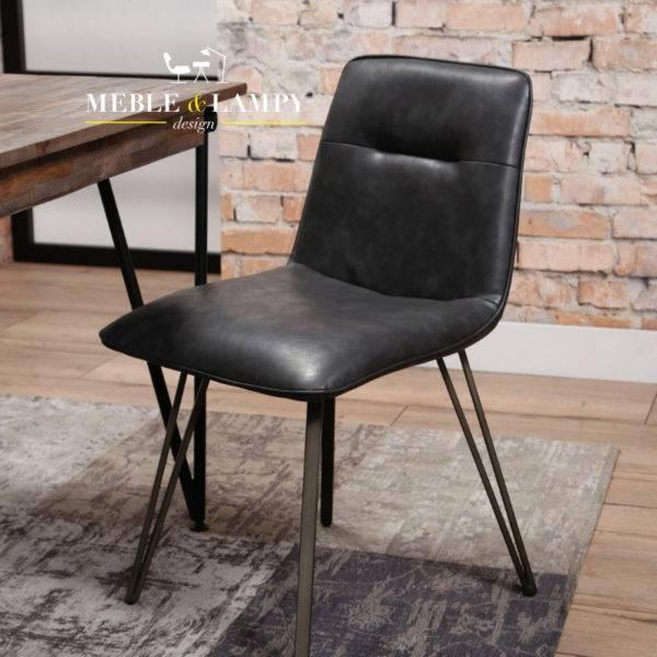 Krzesło V-nogi SIODŁO super eko skóra