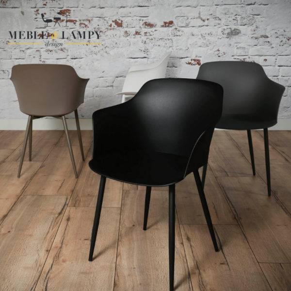 Krzesło polypropylen PP 4 kolory - czarne