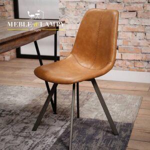 Krzesło Zig-Zag nogi płaskie – brąz