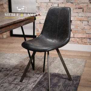 Krzesło Zig-Zag nogi płaskie – czarne