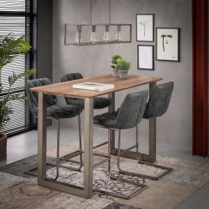 Stół barowy 140 x 70 cm Nogi – U