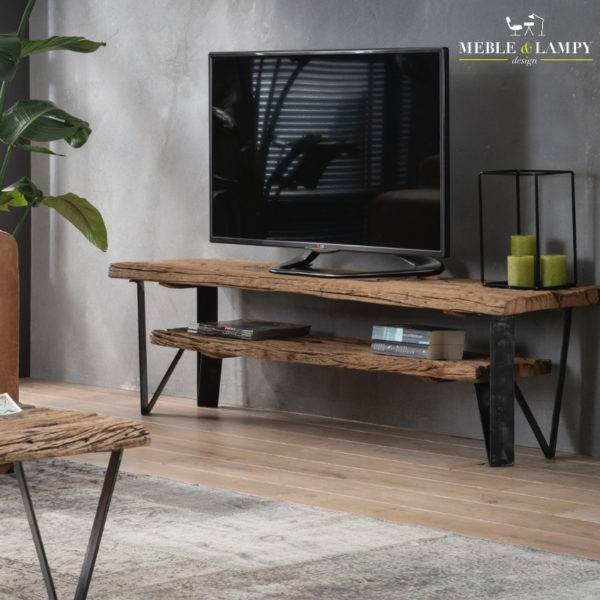 TV mebel 160 x 40 - naturalne drewno