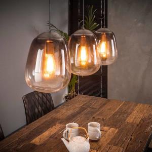 Cieniowana lampa wisząca 3L – szkło