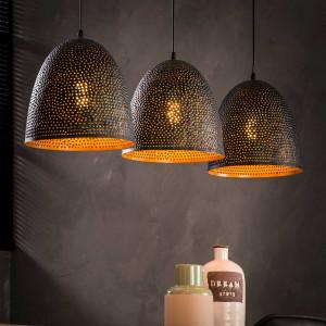 Lampa perforowana wisząca 3L Ponce Conico